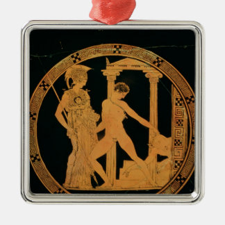 Red-figure cup depicting Athena, Theseus Christmas Ornament