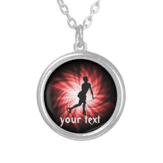 Red Figure Skating Personalized Necklace