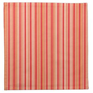 Red fine stripes napkin