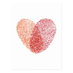 Fingerprint Heart Postcards Zazzle Uk