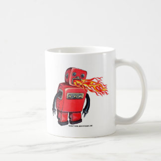 Red Fire-breathing Robot Coffee Mug