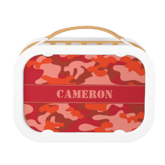 Red Fire Camouflage (Camo) | Personalized Lunch Box