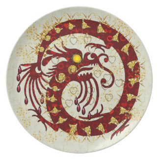 Red Fire Dragon Plate