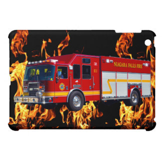 Red Fire Engine Fire-Fighter Truck Device Case iPad Mini Cover