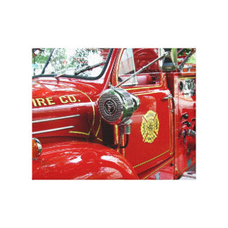 Red fire engine wall art.... gallery wrapped canvas