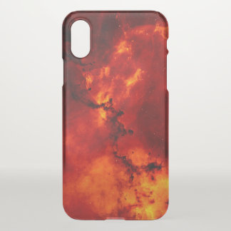 Red Fire Galaxy Pattern Cleary iPhone X Case