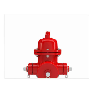 Red Fire Hydrant Post Cards