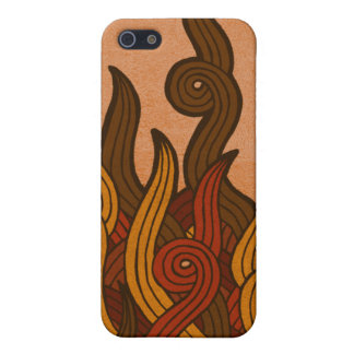 Red Fire iPhone 5 Cases