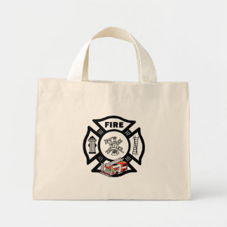 Red Fire Truck Canvas Bag