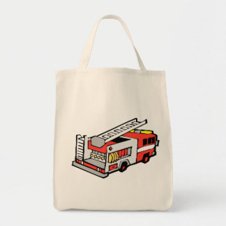 Red Fire Truck Tote Bags