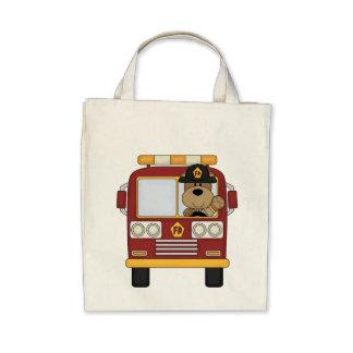 Red Fire Truck Bear Bags