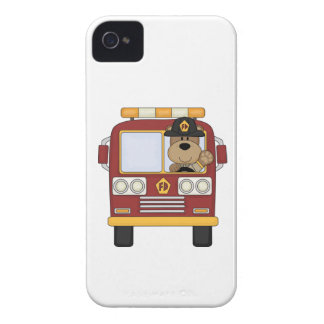 Red Fire Truck Bear Case-Mate iPhone 4 Case