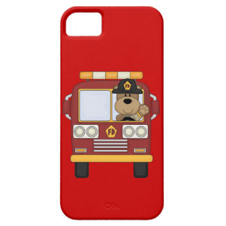 Red Fire Truck Bear iPhone 5 Covers