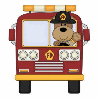 Red Fire Truck Bear Photo Cutout