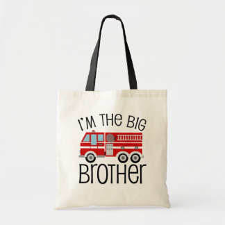 Red Fire Truck Big Brother Tote Bag