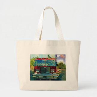 Red Fire Truck Fireman's Art Gift Tote Bag