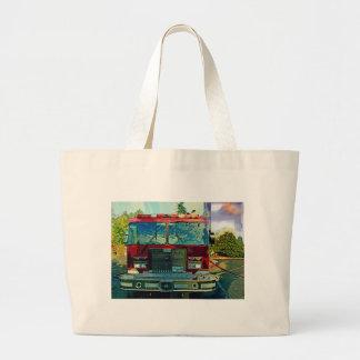 Red Fire Truck Fireman's Art Gift Tote Bag