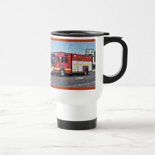 Red Fire Truck Fireman's Drinking Mug