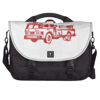 Red Fire Truck Laptop Bag