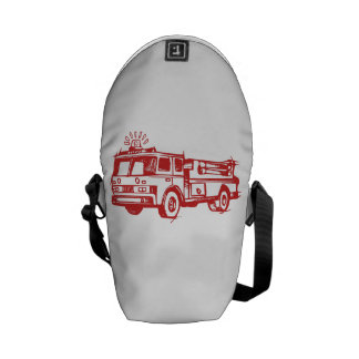 Red Fire Truck Courier Bags
