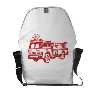 Red Fire Truck Messenger Bags