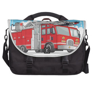 Red Fire Truck or Fire Engine Laptop Computer Bag