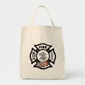 Red Fire Truck Rescue Canvas Bag