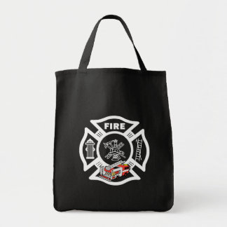 Red Fire Truck Rescue Tote Bag