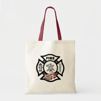 Red Fire Truck Rescue Budget Tote Bag