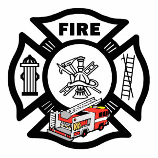 Red Fire Truck Rescue Photo Cut Out