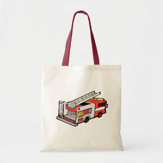 Red Fire Truck Tote Bag