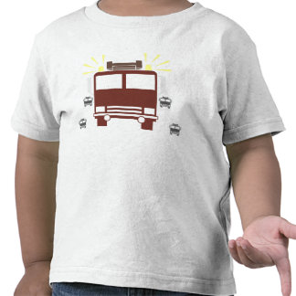 Red Fire Truck Tee Shirts