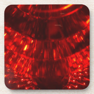 RED FIREBALL Square Drink Coaster