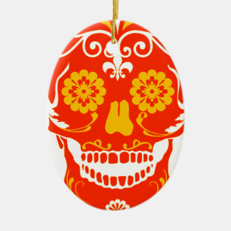 RED FIRED SKULL ORNAMENTS
