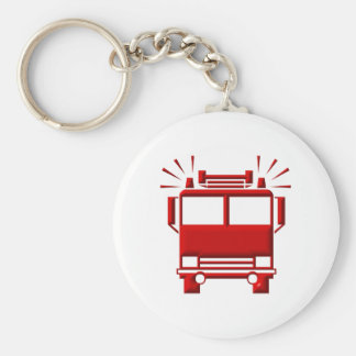 Red Firetruck Key Chain
