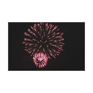 Red Firework Canvas Print