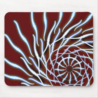 red firework design mouse pad