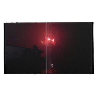 Red Firework Lights iPad Case
