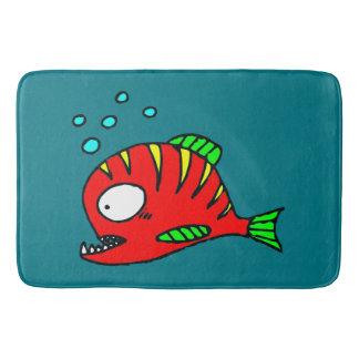 Red Fish Bath Mats