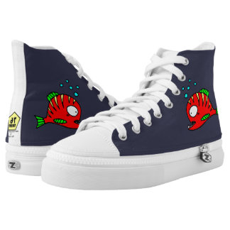 Red Fish High Tops