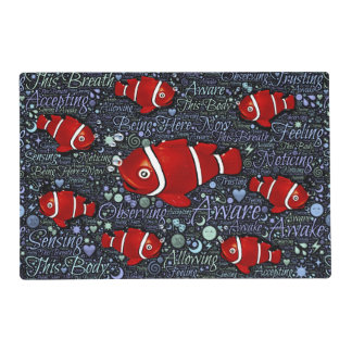 Red Fish laminated placemat