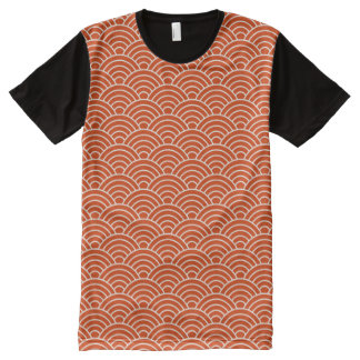 Red Fish Scales All-Over Print T-Shirt