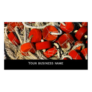 Red fishing nets seafood business  card template pack of standard business cards