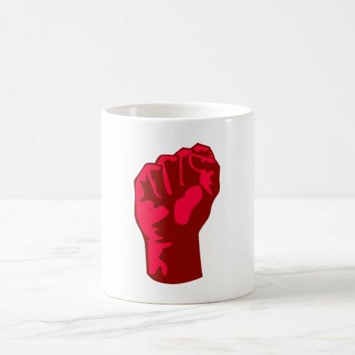 red fist talk fist coffee mug