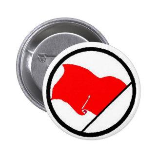 Red flag 6 cm round badge