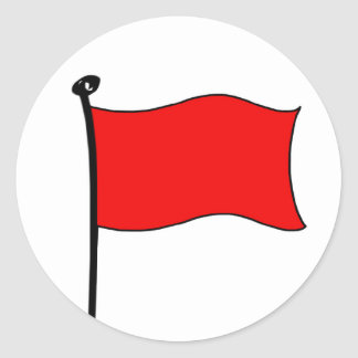 Red Flag: stickers (small)