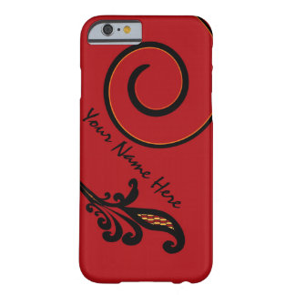 Red Flair Personalized iPhone 6 case