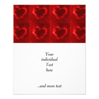 red flame hearts 11.5 cm x 14 cm flyer