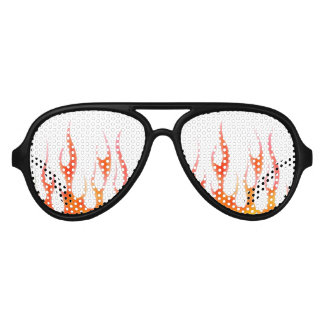 red flame party sunglasses