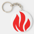 Red Flame sign Key Ring